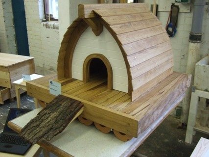 Floating duck house by anthony sawyer boat building academy for How to build a floating house