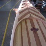 wooden stand up paddle board