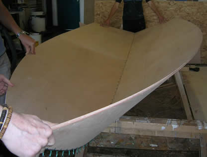 14' V hull stitch and glue boat - Jamie Poynton - Boat Building Academy
