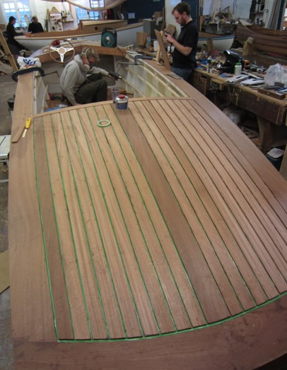 is stitch and glue in marine ply the power will come from an inboard ...