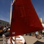 Launch Day - Class of August 2016 a 17′ Northeaster Dory Built by student Paul Coyne