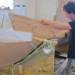 11' Moth Dinghy plwood hull construction