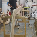 16' Smakke Jolle The solid Oak keel attached to th stem