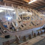 16' Smakke Jolle ready to be planked in oak