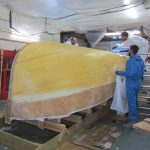 The sheathing of the 20' Paul Gartside Outboard Launch