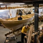 16' Smakke Jolle being worked on and mast being made