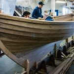 16' Smakke Jolle getting knees and floors fitted