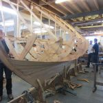 16' Smakke Jolle starting to be traditionally planked in oak