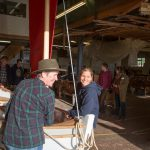 Class of February 2016 - MBE Gail McGarver helps rig one of the boats with a student