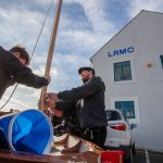 Class of February 2016 - student Harry Evans erects his mast